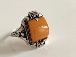 Antik Jugendstil Art deco 830 Silber Ring Silberring Butterscotch