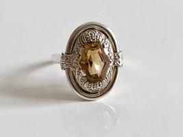 Antik Jugendstil Art Deco 835 Silber Ring gold Edelstein facettiert