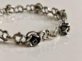 Antik Orig. Franz Scheurle (Quinn) 925 Silber Armband DESIGN FRANZ SCHEUERLE Rosen Blumen Blüten