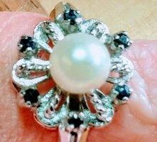 Antikschmuck Anillo de plata multicolor