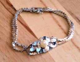 Braccialetto in argento multicolore
