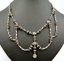 Collar estilo collier color plata-púrpura