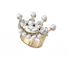 Anton Heunis Statement ring goud-wit
