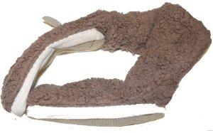 Pantoufles-chaussette marron clair polyester