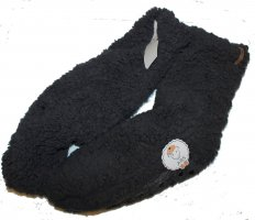 Pantoufles-chaussette gris foncé polyester