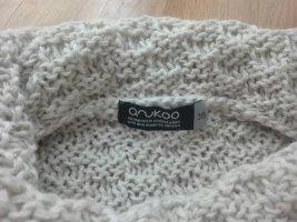 anukoo Sweter z dzianiny jasnobeżowy Wełna z alpaki