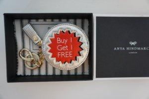 Anya Hindmarch Coin Purse 100% Original Key Chain/ Bag Charm
