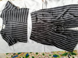 100% Fashion Garnitur damski biały-czarny