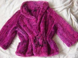 Apanage Giacca di pelliccia rosa-magenta