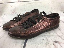 Apart Schuhe mit Pailletten Braun Neu 38