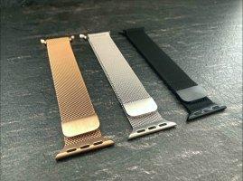 Apple Horloge met metalen riempje veelkleurig