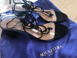 Aquazzura Sandalo con cinturino nero Pelle