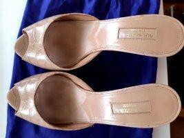 Aquazzura Sandaletto con tacco alto beige chiaro Pelle