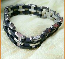Armband zwart-zilver