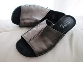 ara Heel Pantolettes grey brown-silver-colored leather