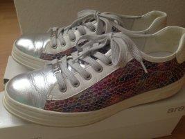 ara-Sneaker, silber,weiß, multicolor, Größe 40