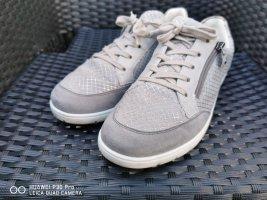 ara Sneakersy wciągane srebrny-jasnoszary