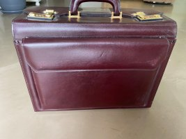 Briefcase brown red-bordeaux