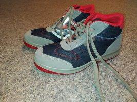 Aboutblu Bottines à lacets rouge-gris ardoise