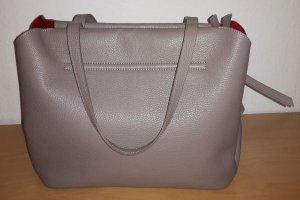 Arcadia Handtas grijs-bruin-rood Leer
