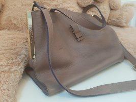 Arcadia Crossbody bag grey brown-brown leather