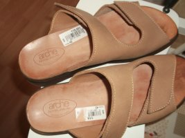 Arche Comfortabele sandalen camel Leer