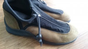 Arche Low Shoes black-green grey leather