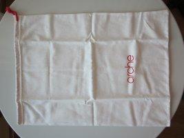 Arche Borsa porta abiti rosso mattone-bianco Cotone