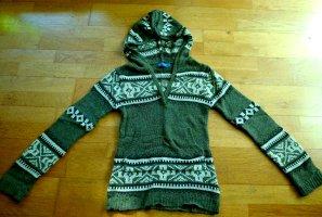 ARIZONA Kapuzen-Pullover oliv Strick Hoodie XS