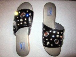 Arizona Heel Pantolettes black mixture fibre
