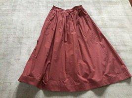 ARKET Midi Skirt cognac-coloured cotton