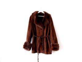 Arma Collection Veste en fourrure brun foncé-brun pelage