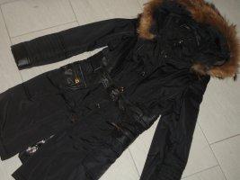 Arma Collection Gewatteerde jas zwart-bruin