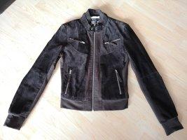 Arma Collection Veste en cuir brun foncé