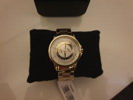 Armani Exchange Montre avec bracelet métallique argenté-doré