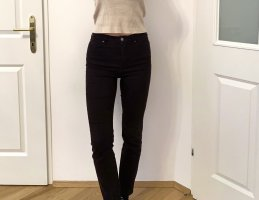 Armani Exchange High Waist Trousers black