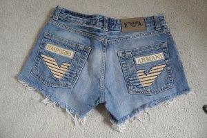 Armani Exchange Shorts steel blue cotton