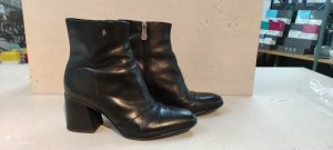 Armani Exchange Zipper Booties black leather