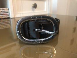 Armani Jeans Waist Belt black-silver-colored