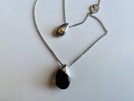 Armani Necklace silver-colored-black