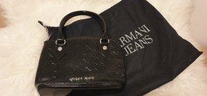 Armani Handtasche schwarz Abendtasche Lack