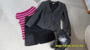 Armani Collezioni Blazer sweat noir-argenté laine