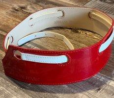 Armani Jeans Cinturón pélvico blanco-rojo oscuro