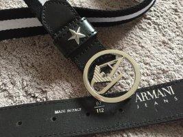 Armani Jeans Cinturón de tela multicolor Algodón