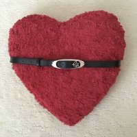 Armani Jeans Cinturón de cuero negro-gris claro Cuero