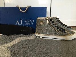 Armani Jeans♥️Sneaker high♥️Black/Gold