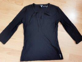 Armani Polo noir fibre textile