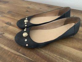 Armani Ballerines à lacets noir