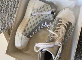 Armani Junior High top sneaker wit-turkoois