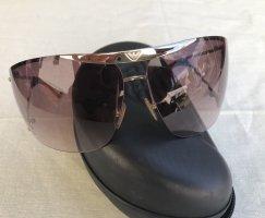 Emporio Armani Gafas de sol ovaladas color plata-marrón claro